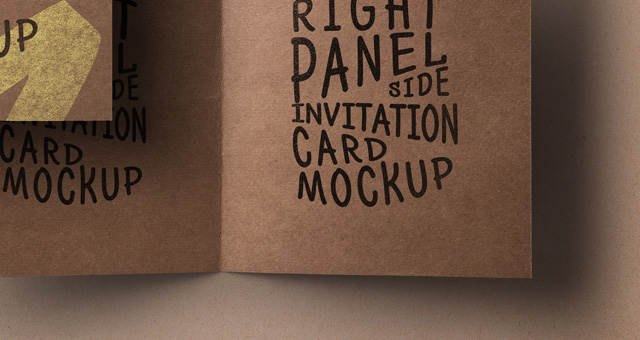 psd kraft paper invitation card