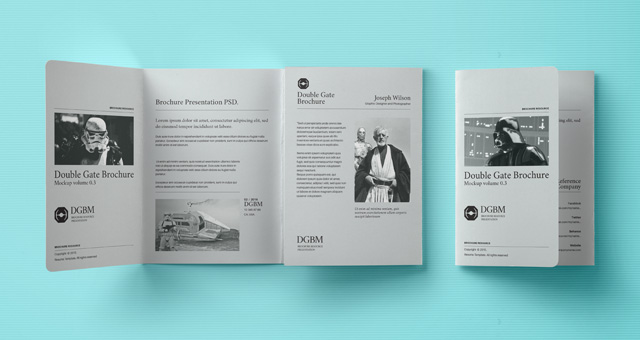 Psd double gate fold brochure vol3 psd mock up templates for Double gate fold brochure template