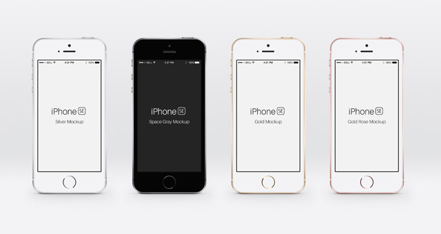 iPhone SE Psd Mockup | Psd Mock Up Templates | Pixeden