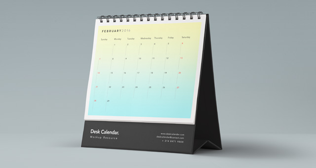 Desk Psd Calendar Mockup Psd Mock Up Templates Pixeden