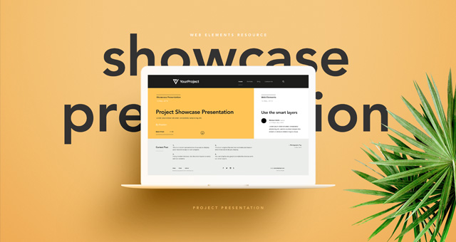 Psd Showcase Project Presentation | Psd Web Elements | Pixeden