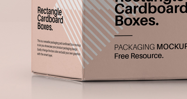 Rectangular Psd Box Mockup   Psd