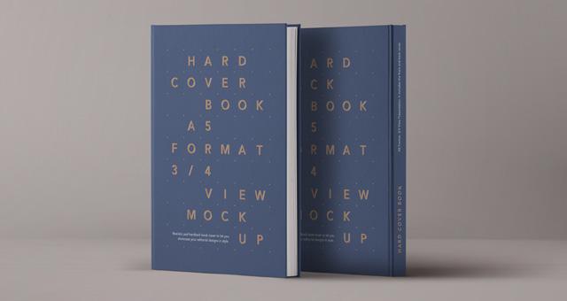 Hardback Book Cover Template Psd ~ Psd a hardcover book vol mock up templates pixeden