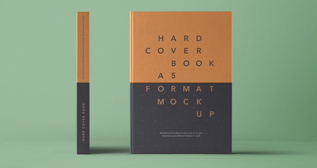 Psd A5 Hardcover Book Vol4 | Psd Mock Up Templates | Pixeden