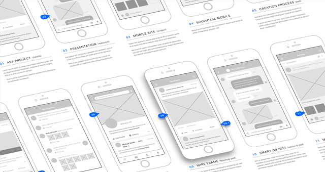 Psd wireframe app mockup vol3 psd mock up templates for Html5 wireframe template
