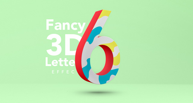 Fancy 3d Letter Psd Text Effect Photoshop Text Effects
