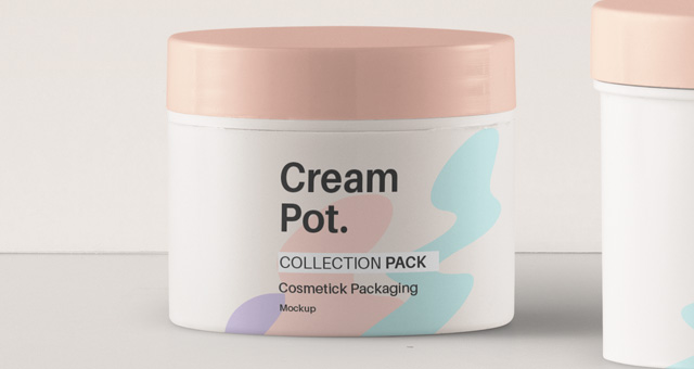Psd Cream Pot Cosmetic Mockup Pack Psd Mock Up Templates