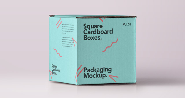 Square Psd Cardboard Box Mockup 2 Psd Mock Up Templates