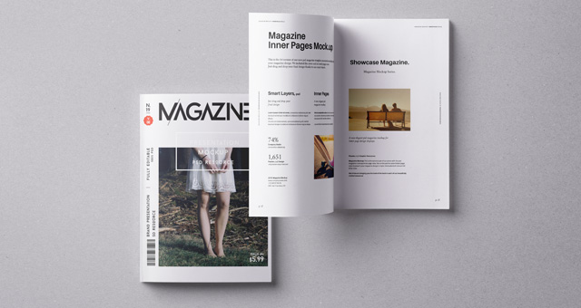 Psd Magazine Mockup Vol8 Psd Mock Up Templates Pixeden