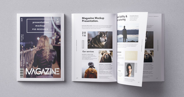 Psd Magazine Mockup Vol9 Psd Mock Up Templates Pixeden