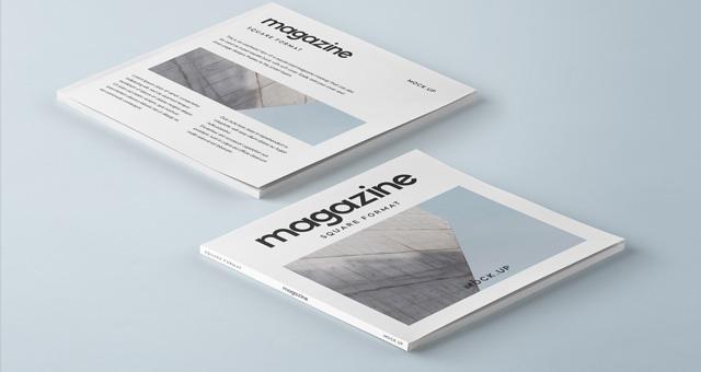 Square Psd Magazine Mockup Vol3 Psd Mock Up Templates