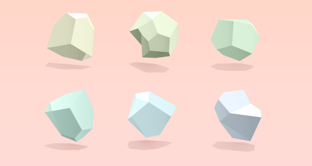 Abstract 3d Polygon Vector Shapes Decorative Vectors