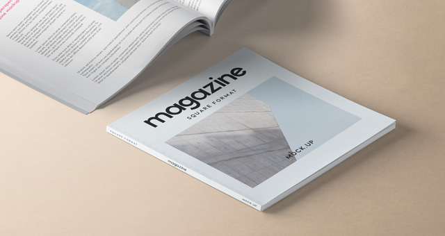 Square Psd Magazine Mockup Vol4 Psd Mock Up Templates