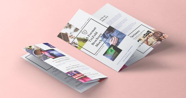 8 5x11 tri fold brochure template - tri fold psd 8 5x11 inch mockup vol2 psd mock up