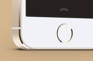 3-4 View iPhone 5S Psd Vector Mockup
