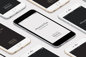 3D iPhone 6 Plus Psd Vector Mockup