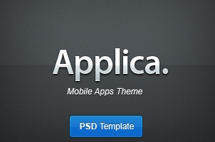 Applica App Psd Web Template