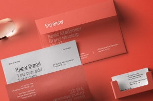 Basic Stationery Branding Psd Mockup vol 28
