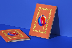 Booklet Psd Notebook Mockup Scene