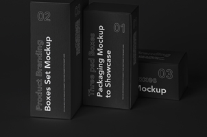 Box Psd Mockup Product Branding Set