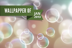 Bubbles Wallpaper Widescreen - Pixeden - Jan 2011