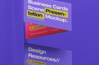 Business Card Psd Scene Mockup Set