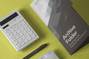 Business Psd Stationery Mockup Set