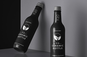 Ceramic Psd Bottle Mockup Set 3