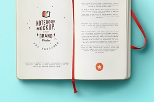 Classic Psd Notebook Mockup