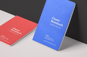 Classic Psd Notebook Mockup Vol4