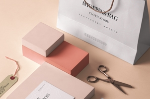 Cloth Store Stationery Mockup
