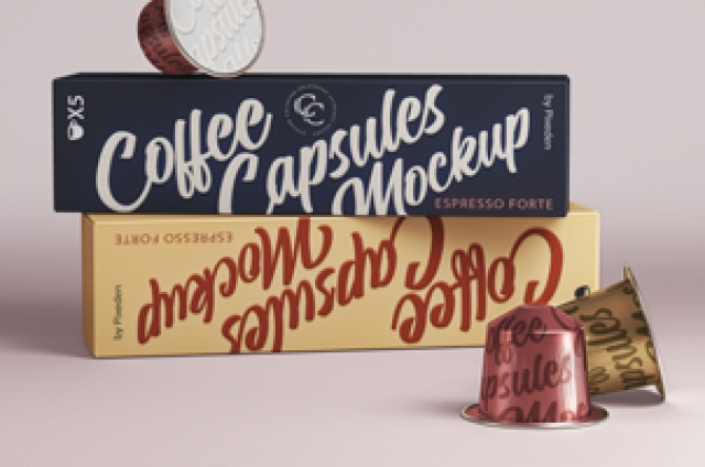 Coffee Pods Psd Packaging Mockup Vol2