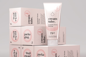 Cosmetic Psd Cream Tube Mockup