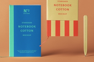 Cotton Psd Notebook Mockup