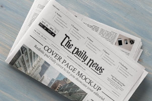 Daily Newspaper Psd Mockup Vol3