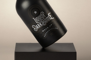 Dark Psd Liquor Bottle Mockup Beer Bottle Vintage