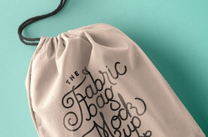 Drawstring Psd Bag Mockup Vol2