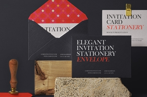 Elegant Psd Invitation Mockup Set