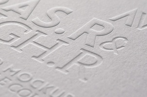 Embossed Logo Mock-Up Template