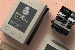 Essential Packaging Stationery Mockup