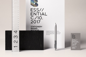 Essential Stationery Psd Mockup
