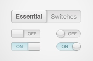 Essential Switches & Toggles Psd
