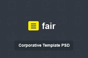 Fair Psd Flat UI Web Template