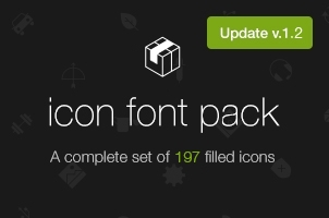 Filled 7 Icon Font Set v1.2