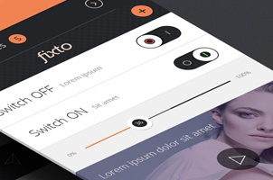 Fixto iPhone App UI Kit Psd