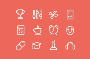 Flat Stroke Line Icons Set Vol5