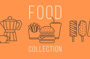 Food Icons Collection Set