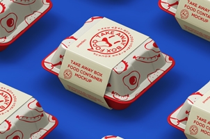 Food Psd Take Away Box Mockup