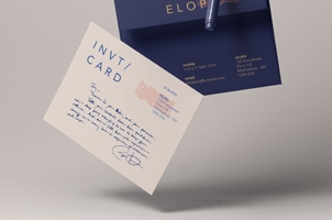 Gravity Card Psd Invitation Mockup V2