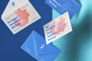 Gravity Invitation Psd Mockup